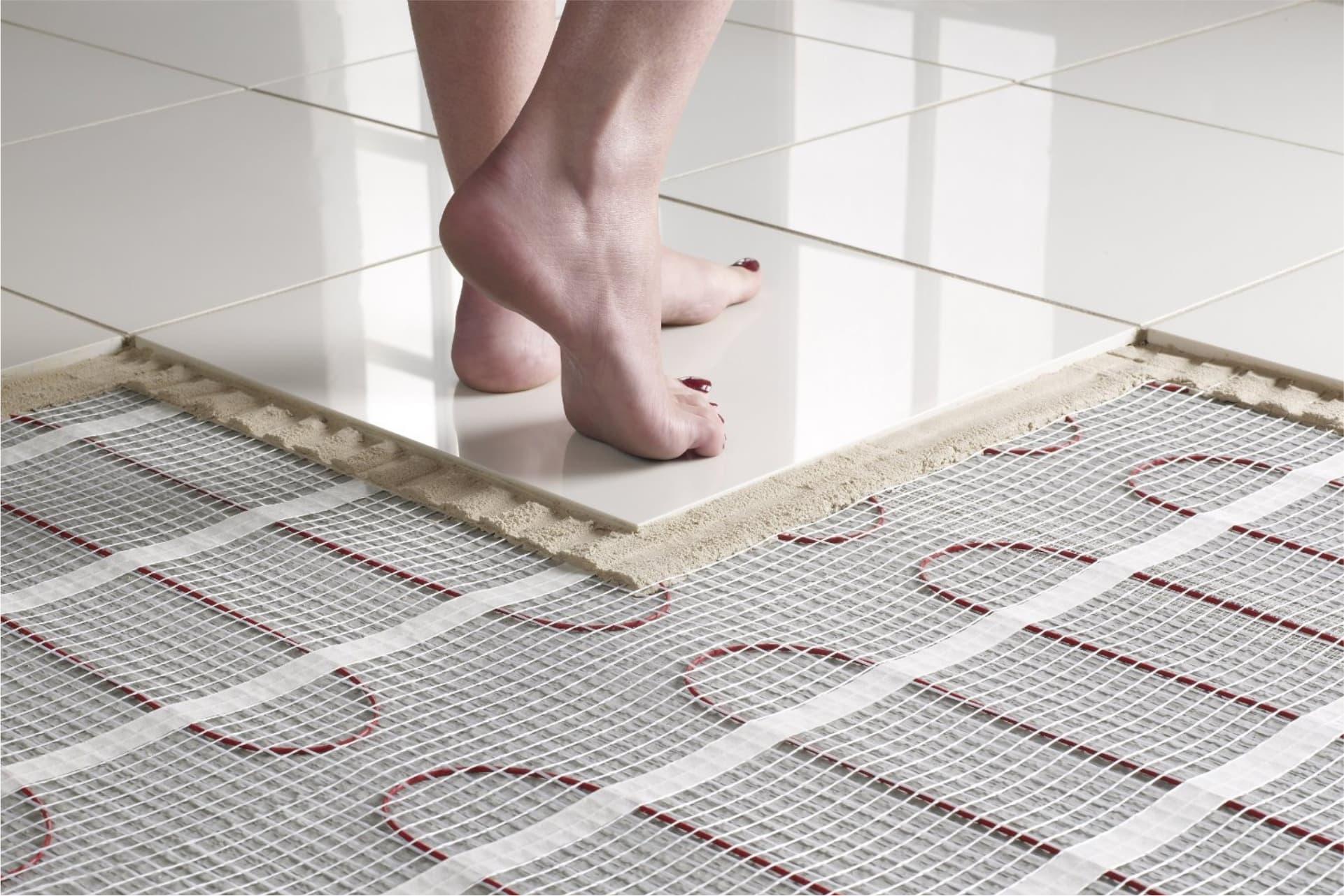 Теплый пол в ванную комнату под плитку